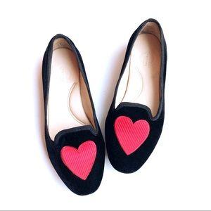 💕Valentine's Day💕C. Wonder Velvet Heart Loafers